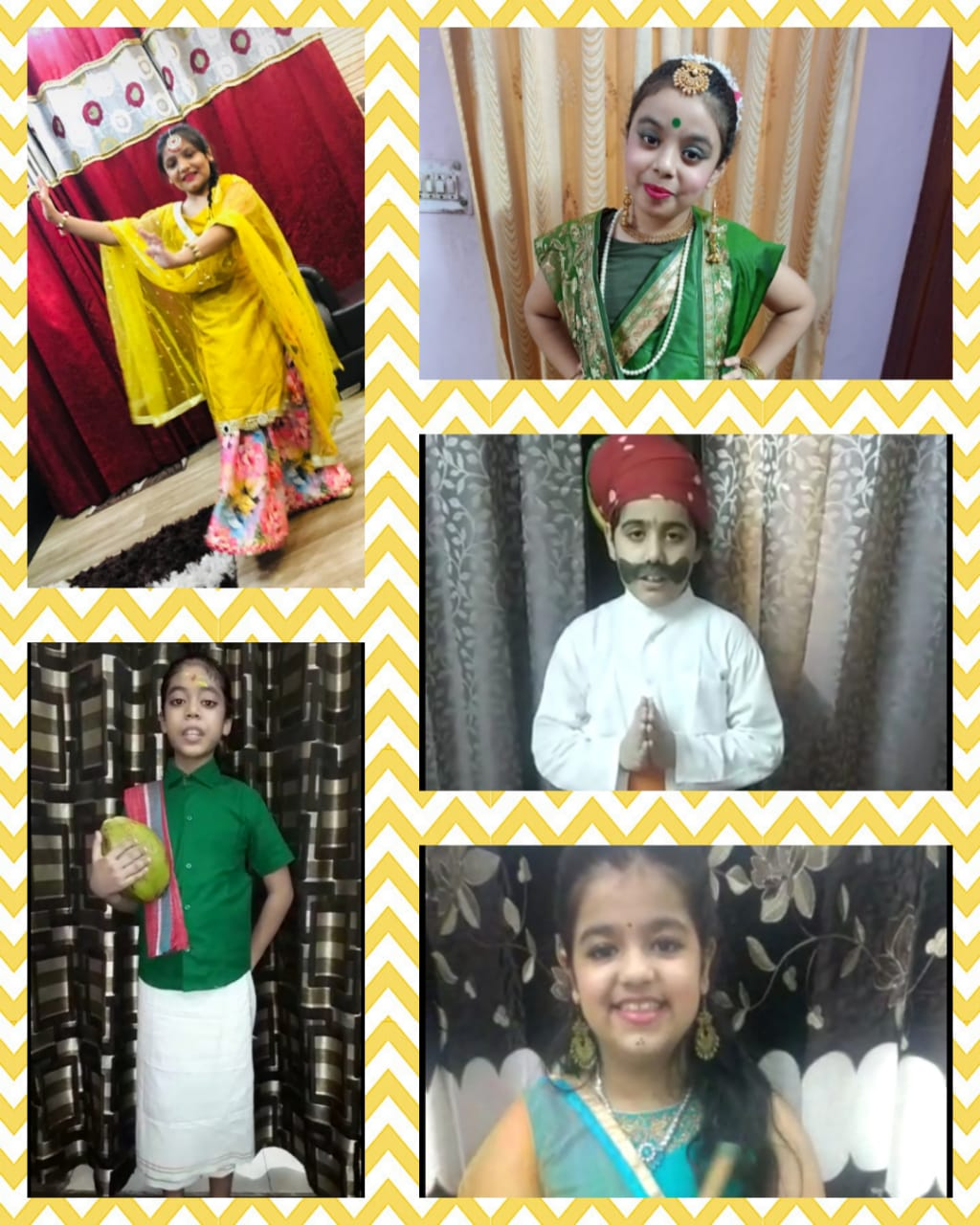 Fancy Dress activity (States of India) for classes III - V