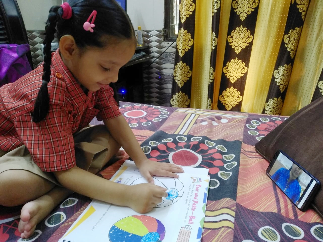 Paper Tearing & Pasting Competition for Classes Nursery & Prep