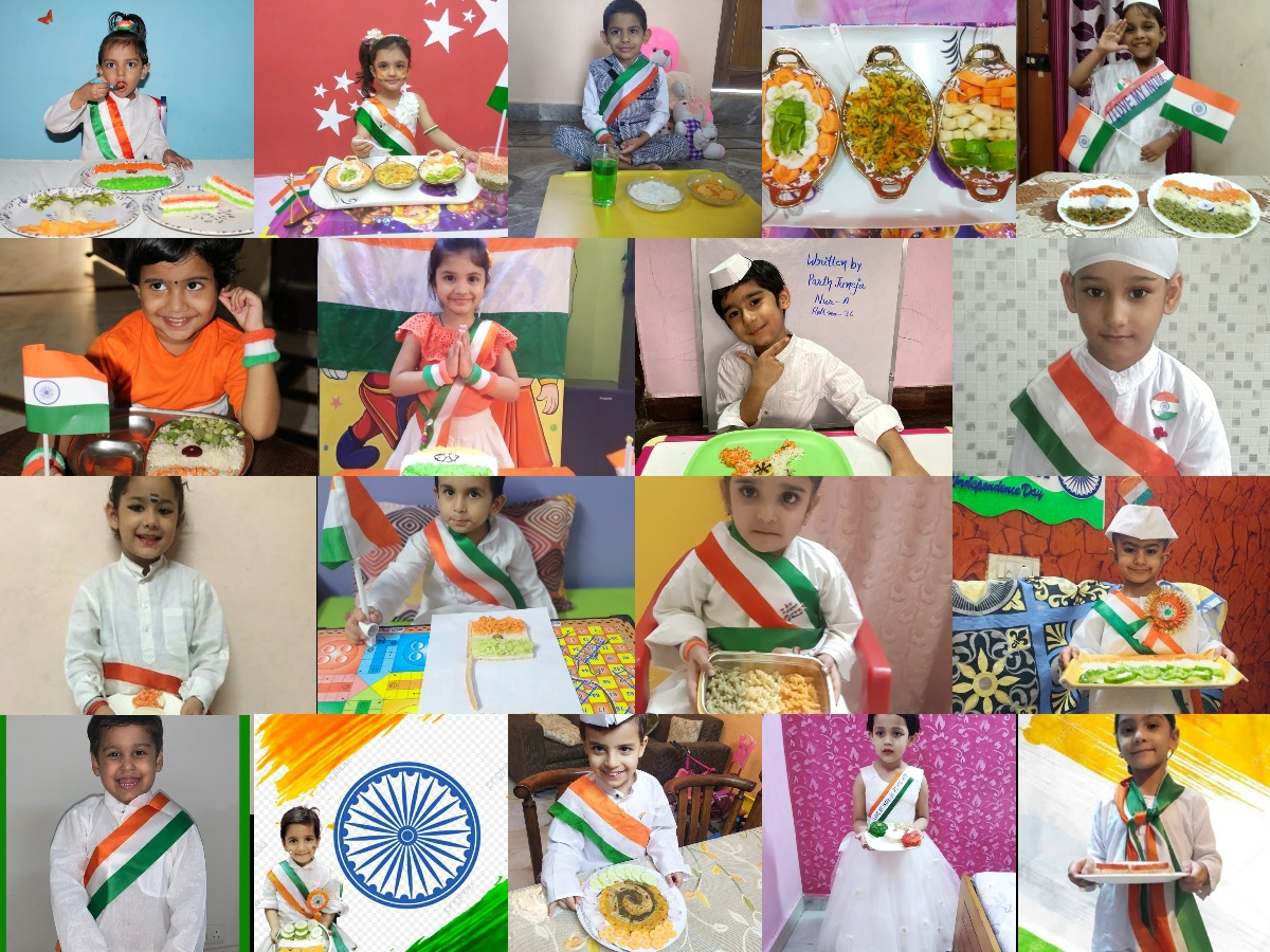 Tri-colour Lunch Activity for classes I - II
